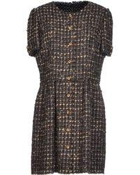 Dolce & Gabbana Short Dress gray - Lyst