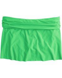 J.Crew Cinched Bikini Beach Skirt green - Lyst