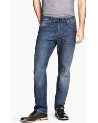 H&M Straight Regular Jeans - Lyst
