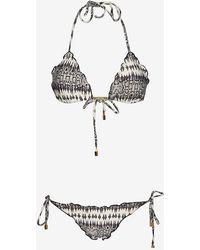 ViX Sphinx Print Ripple Bikini - Lyst