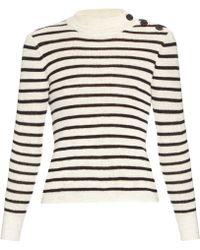 Étoile Isabel Marant | Button-shoulder Striped Sweater | Lyst
