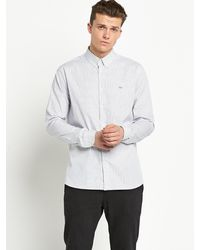 Lacoste Mens Fine Check Shirt - Lyst
