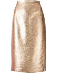 Raoul Metallic Sheen Pencil Skirt - Lyst