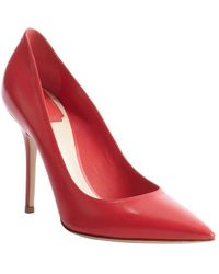 Dior Pink Leather Pointed Toe Pumps - Lyst