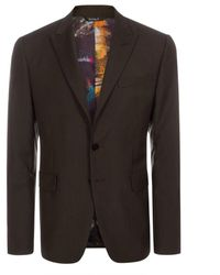 Paul Smith Chocolate Brown Wool-Blend Tailored Blazer brown - Lyst