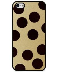 Blissfulcase - Big Polka Dots On Gold For Iphone 5/5s - Lyst