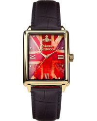 Vivienne Westwood Vv066Gdbk Gold-Plated And Leather Watch - For Men gold - Lyst