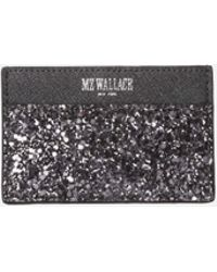 MZ Wallace - Jackson Card Case Night Celebration Leather - Lyst