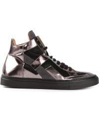 Mm6 By Maison Martin Margiela Metallic Hitop Sneaker - Lyst