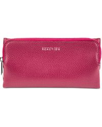 Kenneth Cole Reaction Zip Drive Trifold Clutch Wallet purple - Lyst