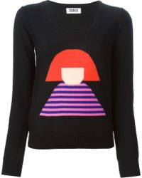 Sonia By Sonia Rykiel Intarsia Design Sweater - Lyst