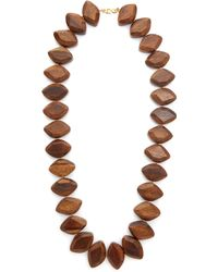 Kenneth Jay Lane - Dark Wood Nuggets Necklace - Lyst