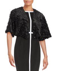 Marina - Sequined Faux Fur Bolero Jacket - Lyst
