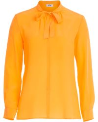 Moschino Cheap & Chic Silk Blouse With Pussy Bow - Lyst