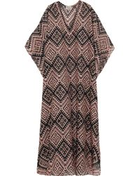 Temperley London Printed Cotton And Silk-Blend Kaftan - Lyst