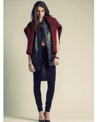 Hide - The Inga Black Leather Sleeveless Jacket  - Lyst