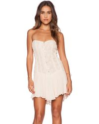 Jen's Pirate Booty Cherokee Rose Mini Dress pink - Lyst