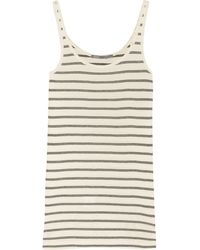 Vince Striped Pima Cotton And Modal-Blend Tank - Lyst