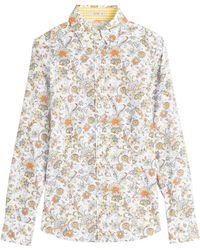 Etro Printed Cotton Shirt - Lyst