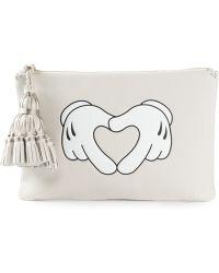Anya Hindmarch 'Heart Hands' Georgiana Clutch - Lyst