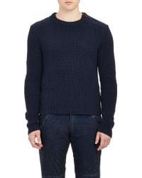 Ralph Lauren Black Label Directional-Rib Knit Sweater - Lyst