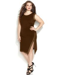 Michael Kors Michael Plus Size Sleeveless Stud-Trim Sheath Dress - Lyst