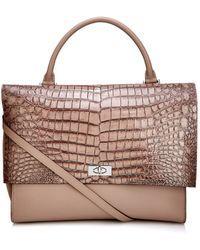 Givenchy Crocodile-Effect Leather Shoulder Bag - Lyst