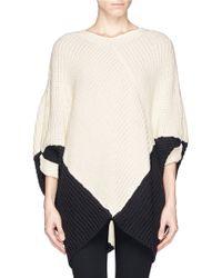 Maje Kassiope Bicolour Poncho Sweater - Lyst