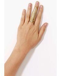 Nasty Gal Shield Ring - Lyst