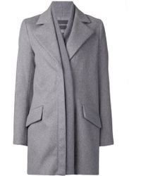 Thakoon Ribbed Front Coat - Lyst
