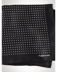 Ralph Lauren Polka-Dot Silk Pocket Square - Lyst