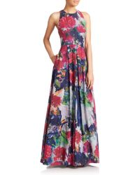 Phoebe Floral Silk/Cotton Maxi Dress - Lyst