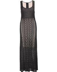 Alice + Olivia Lyra Crochet-Knit Maxi Dress black - Lyst