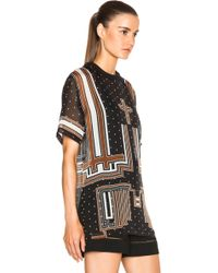 Givenchy Chiffon Graphic Tee black - Lyst