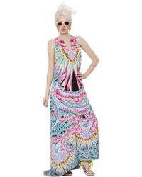 Manish Arora Printed Silk Crepe Dress - Lyst