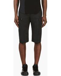 Gareth Pugh - Black Knee Length Zip Cargo Shorts - Lyst