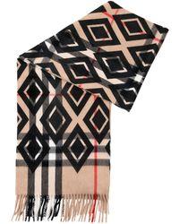 Burberry - Animal Printed Helene Cashmere Wool Pocket 40x190cm Stole - Lyst