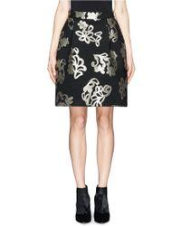 Lanvin Lurex Jacquard Pleat Skirt - Lyst