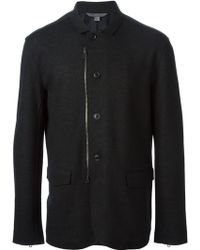 John Varvatos Button Fastening and Zipped Jacket - Lyst