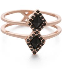 Samantha Wills - Eye Of The Tiger Ring - Rose Gold/Onyx - Lyst