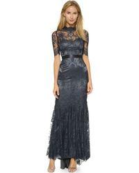 Catherine Deane Bridget High Neck Lace Dress - Midnight Navy blue - Lyst