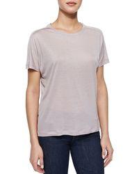 J Brand Tali Slub Knit T-Shirt - Lyst