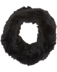 Barneys New York Black Fur Cowl - Lyst
