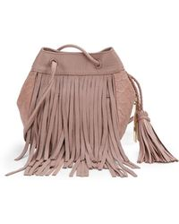 Vince Camuto Andy Fringed Leather Cross Body Bag - Lyst