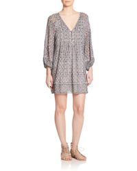 Joie Sevigny Paisley-Print Silk Dress - Lyst