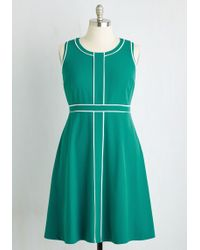 ModCloth | Roving Reporter Dress In Jade | Lyst
