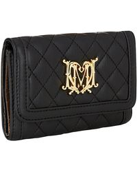 Love Moschino Quilted Logo Flap Wallet - Lyst