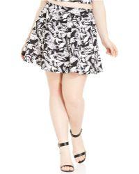 Jessica Simpson Plus Size Shae Printed Skirt - Lyst