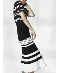 Preen By Thornton Bregazzi | Celeste Dress Black White Stripe | Lyst