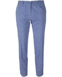 Vanessa Bruno Cropped Printed Trousers - Lyst